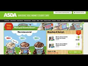 To increase customer engagement, the ad features a poll asking shoppers to vote on, for instance, their favourite Ben & Jerry's flavour from a choice of three.